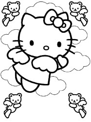 Hello Kitty Coloring Pages 187x250 Hello Kitty Coloring Pages