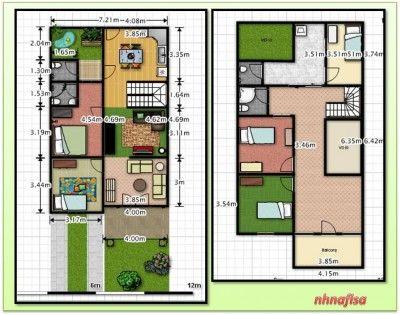 Denah Rumah Sederhana Denah Rumah Rumah Desain Rumah