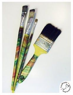 DIY plastic cover for your brushes - easy and pretty!!!