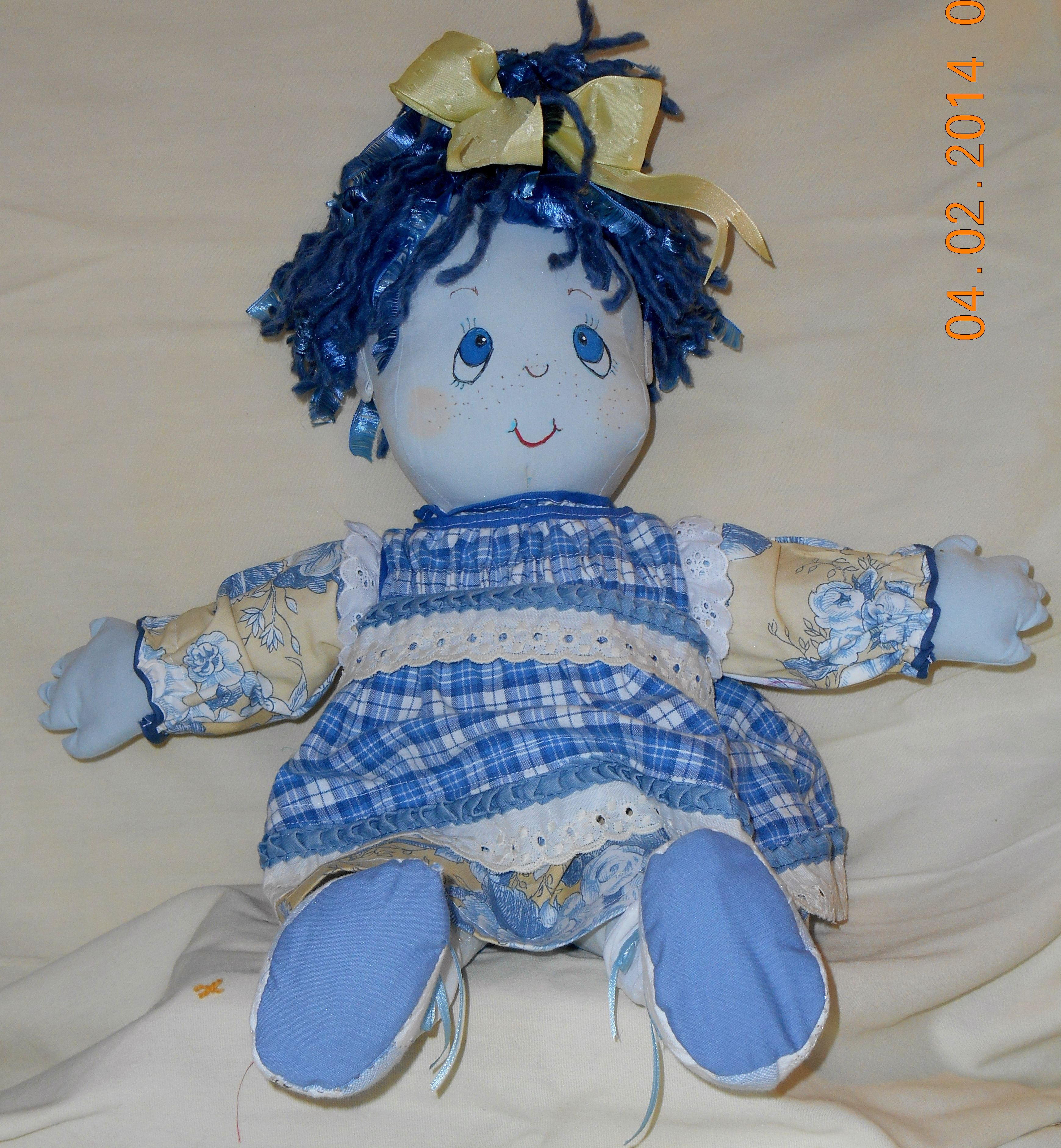 Huggable cloth dolls by me!  I can make one for you too.