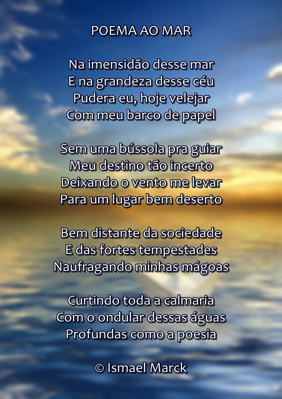 """Soneto """"Poema ao mar"""" de Ismael Marck. in Desígnios & Desejos ..."""