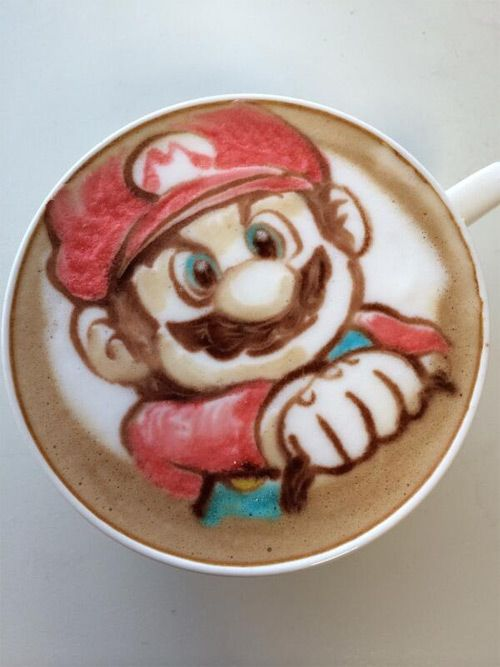 nowtoo sugi colored latte art featured