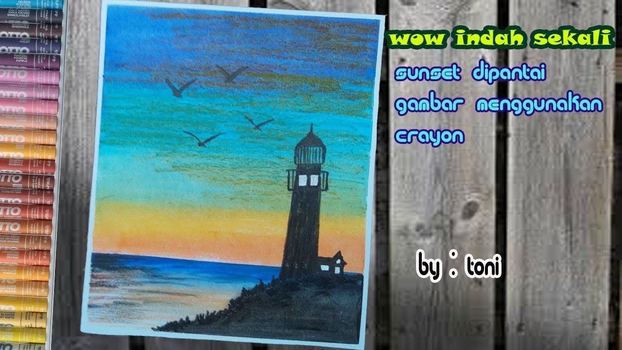 56 Koleksi cara menggambar pemandangan pantai yang indah HD