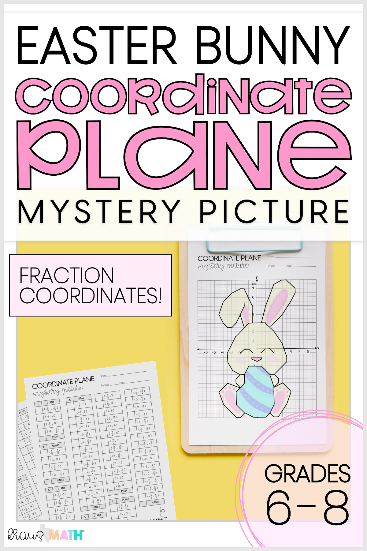 Easter Bunny Coordinate Plane Mystery Picture 4 Quadrants