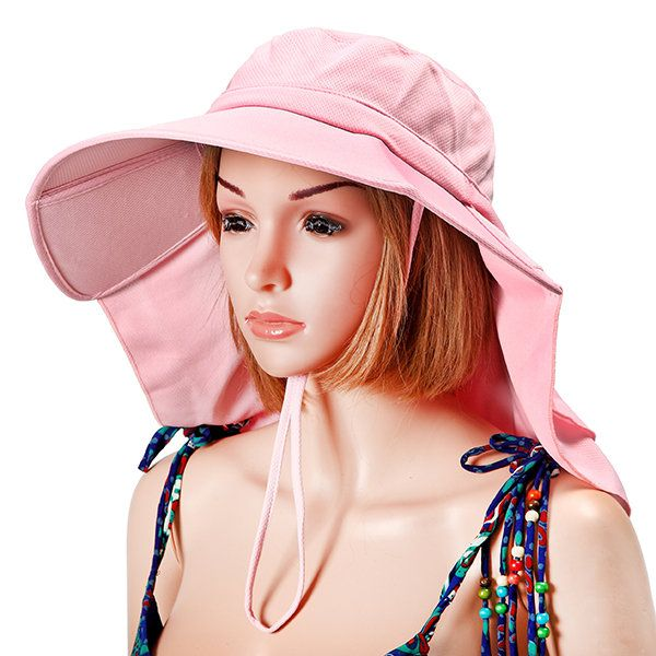f9a55d54 Summer Women Sunscreen Foldable Anti-UV Bucket Hat Outdoor Sports Casual  Cycling Cap