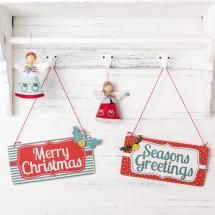 Gisela Graham Vintage Style Wooden Signs The Contemporary Home