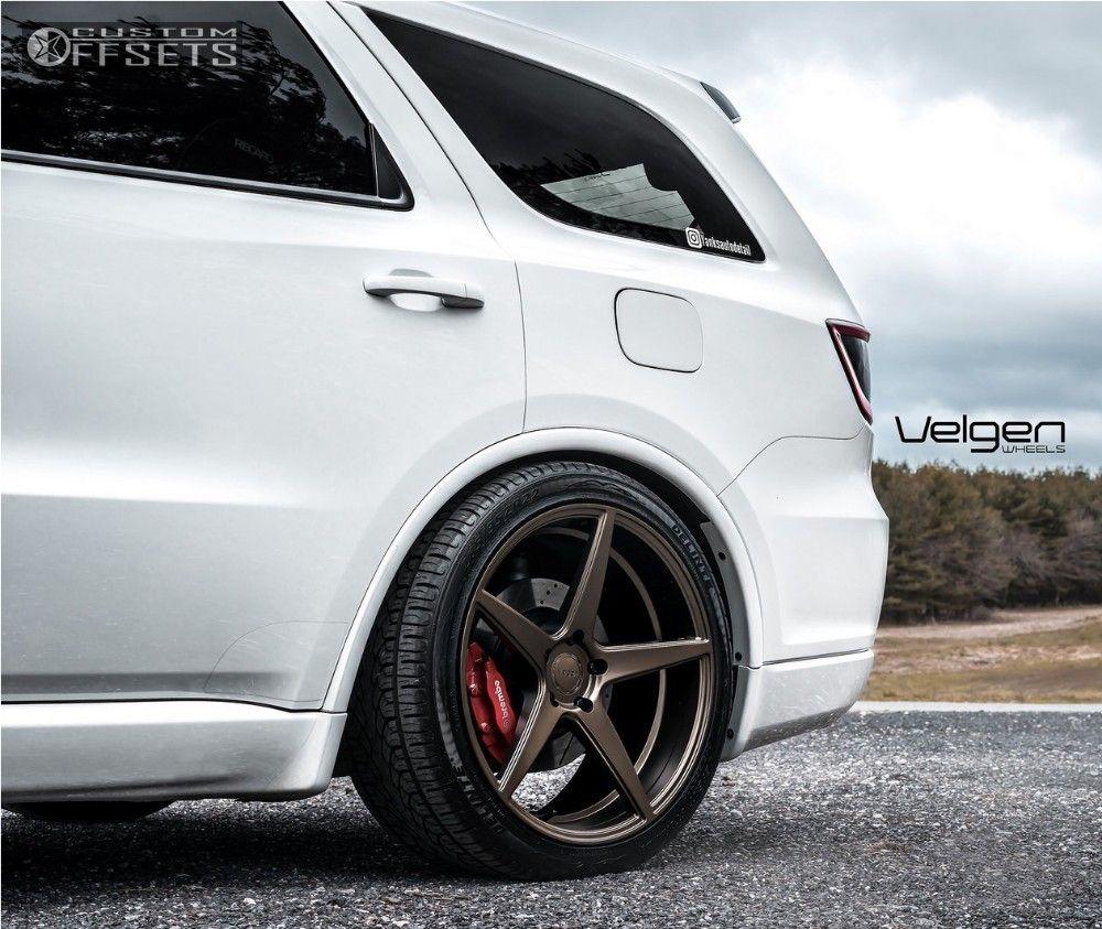 hight resolution of 4 2016 durango dodge lowered on springs velgen wheels classic5 bronze flush