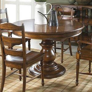Summer Home Round Dining Table In Lodge Nebraska Furniture Mart