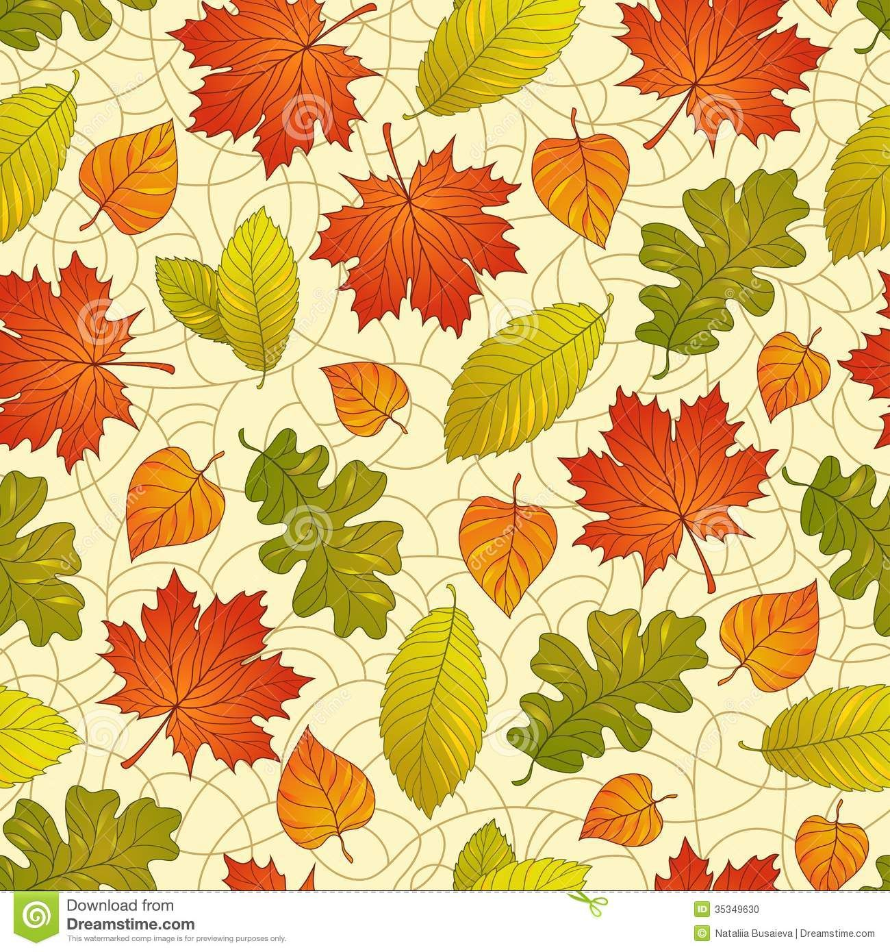 - Autumn Leaves Pattern Stock Photo - Image: 35349630 (With Images