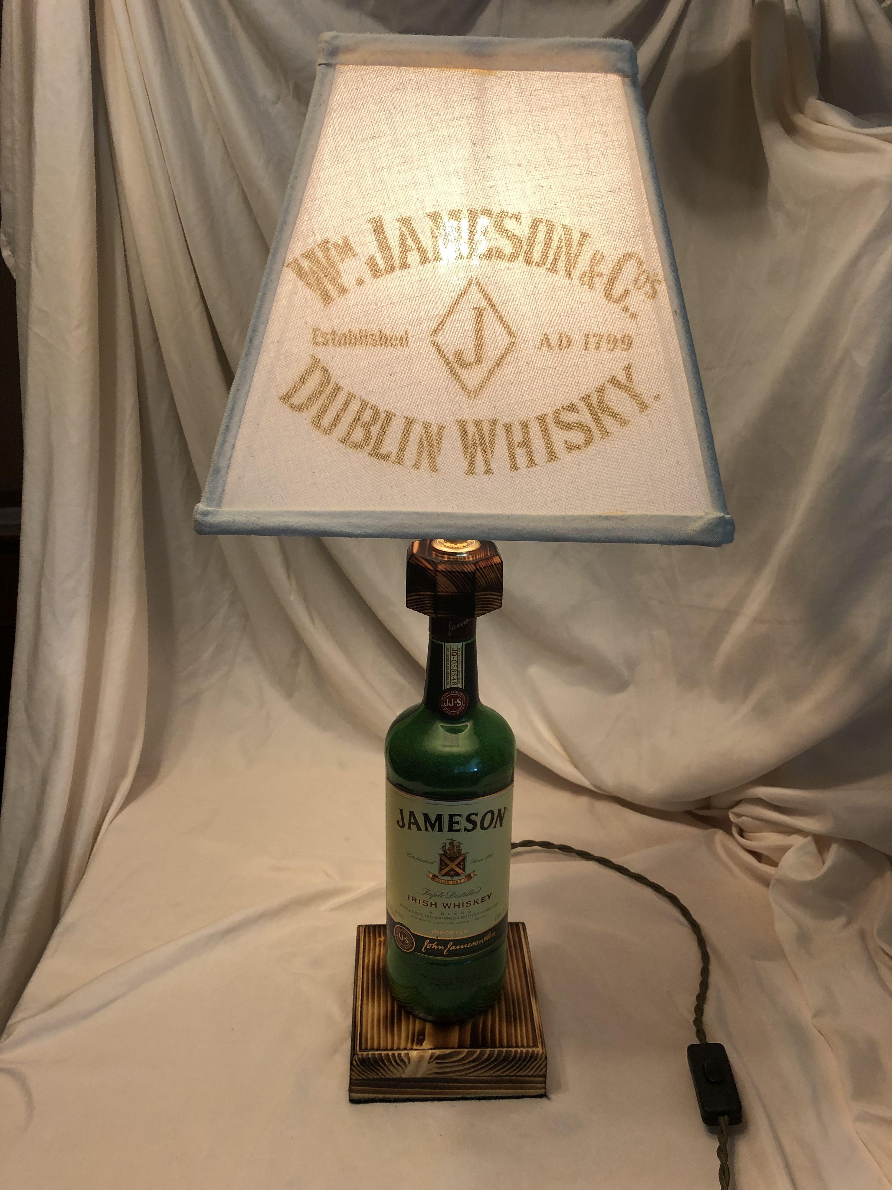 Jameson Irish Whisky Bottle lamp Liquor bottle lights