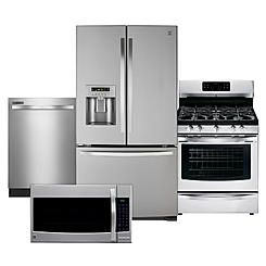 4 Piece Stainless Steel Kitchen Package How Much For New Cabinets Kenmore Best Our