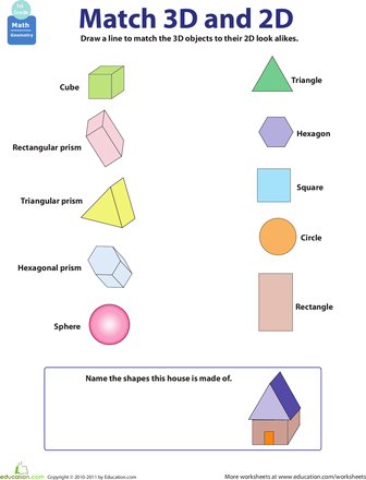 2d And 3d Shapes 3d Shapes Worksheets Shapes Worksheets 2d And 3d Shapes