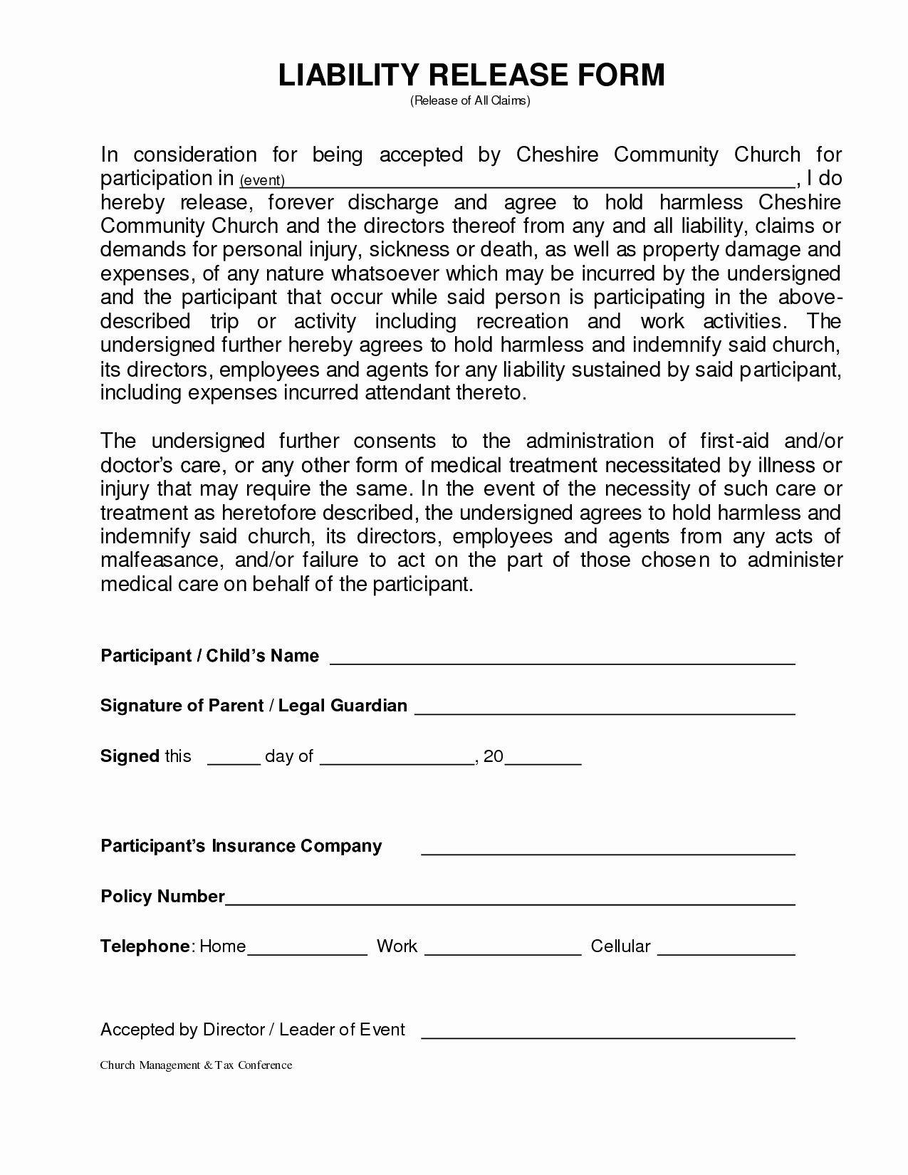 Personal Property Release Form Template Lovely 26 Of Personal Liability Release Form Template In 2020 Liability Waiver General Liability Templates