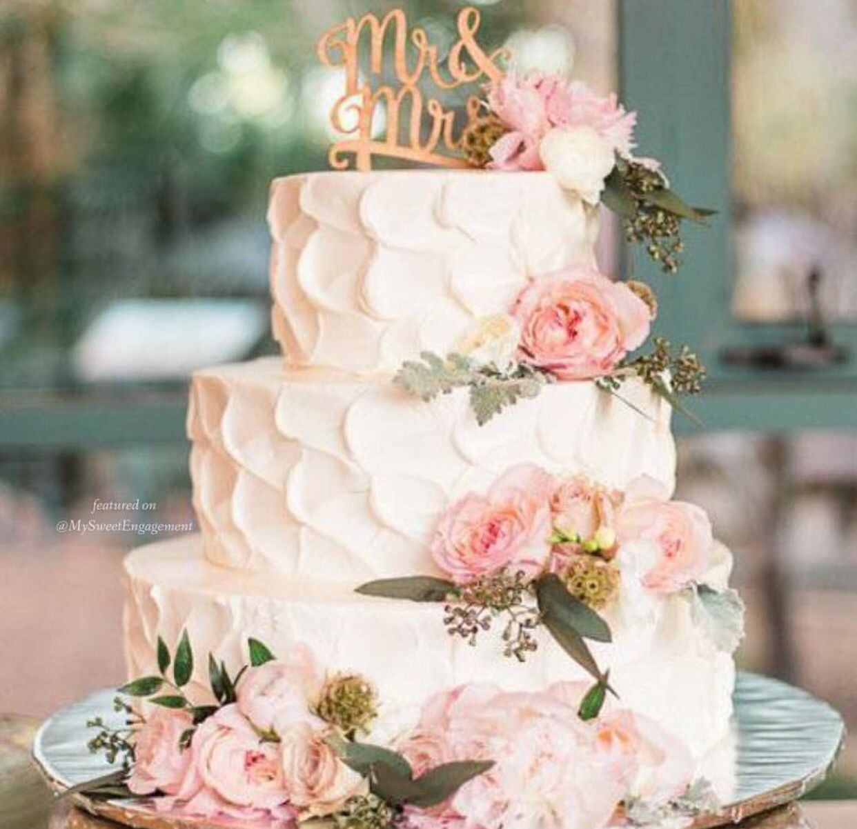 Mr u mrs floral wedding cake wedding pinterest wedding