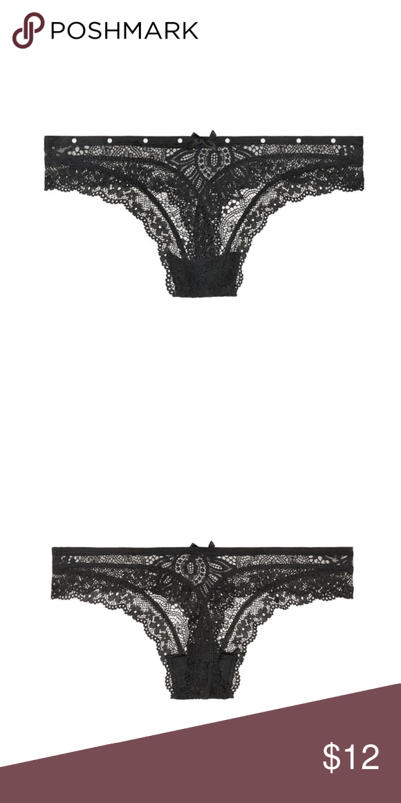 d7a26befd03 ❤️Very Sexy Pearl Embellished Thong Panty❤ All dressed up in pretty lace  finished