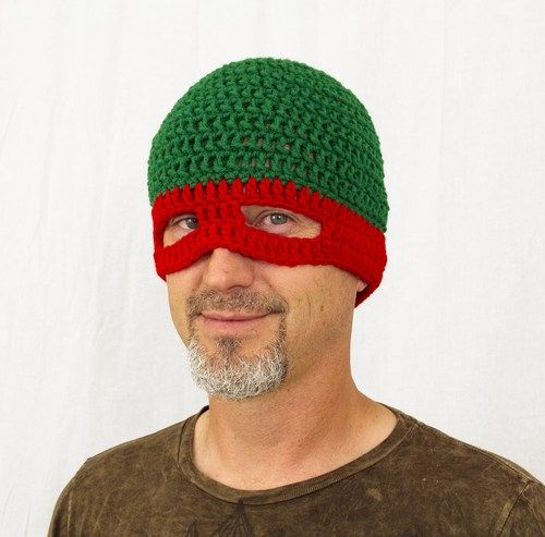 99f4ea3ae0e TMNT Mask Hat in Red
