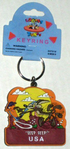 WILE COYOTE /& ROAD RUNNER  Looney Tunes Keychain