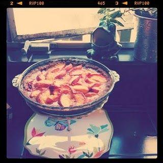 Peach pie cooling in windowsill from @Christie Eppler