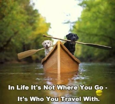 In live it's not where you go-It's who you travel with (25 pieces)