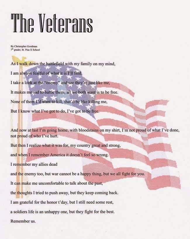 Veterans Day Poems Today is the day we honor, the noble and the ...