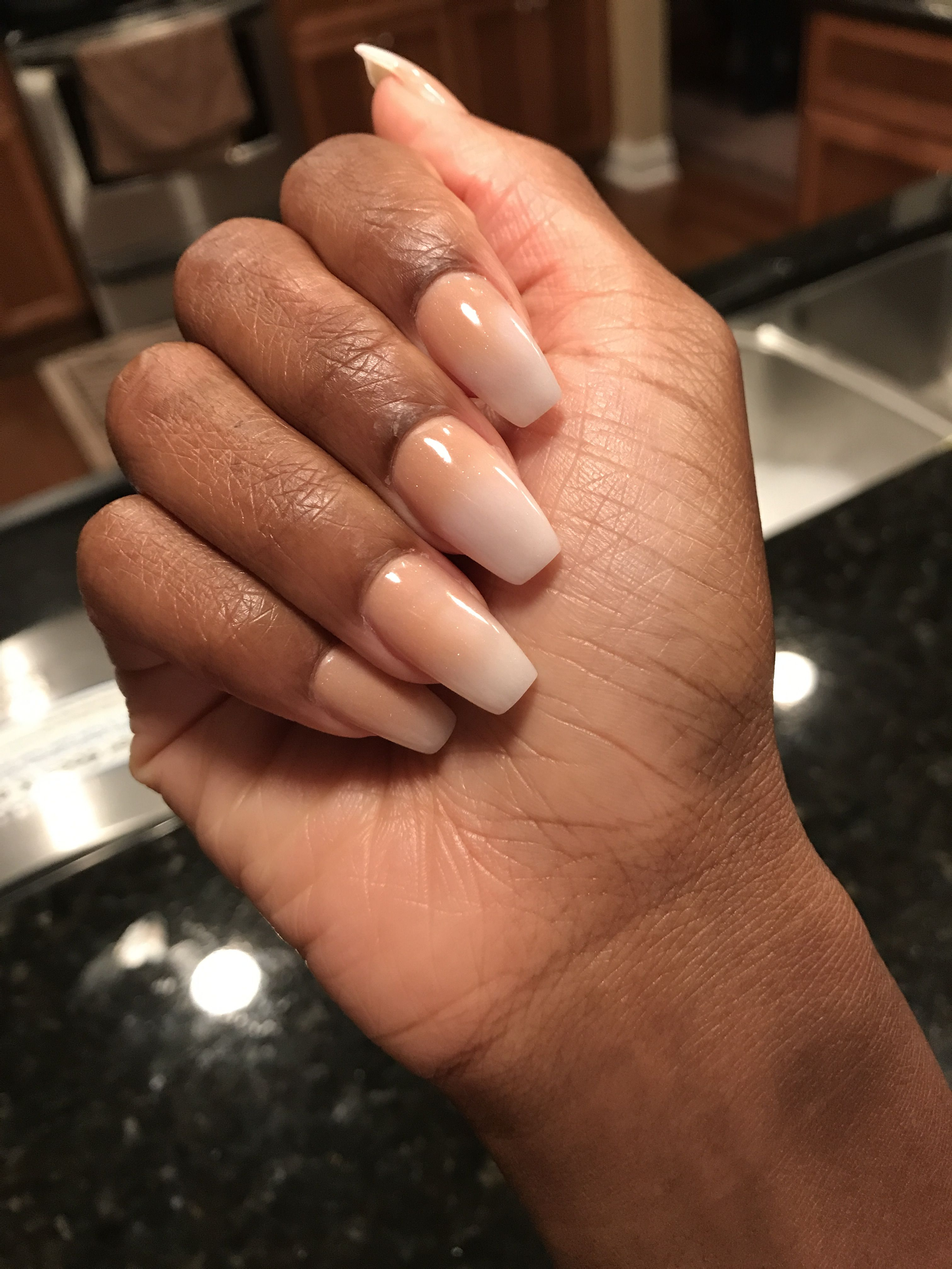 Nudeombre nails nails pinterest manicure nail stuff and