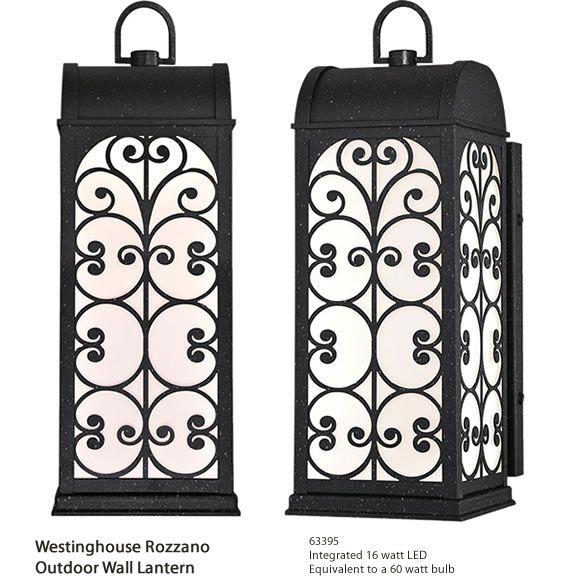 Westinghouse 63395 rozzano outdoor wall lantern super bright westinghouse 63395 rozzano outdoor wall lantern super bright integrated 16 watt led art deco outdoor lighting deep discount lighting make a s aloadofball Choice Image