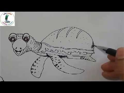 คร ส งห สอนศ ลป L สอนวาดร ป L เต าแฮมเบอร เกอร L สอนวาดร ปการ ต นง ายๆ L Drawing Turtle Youtube สอนวาดร ป