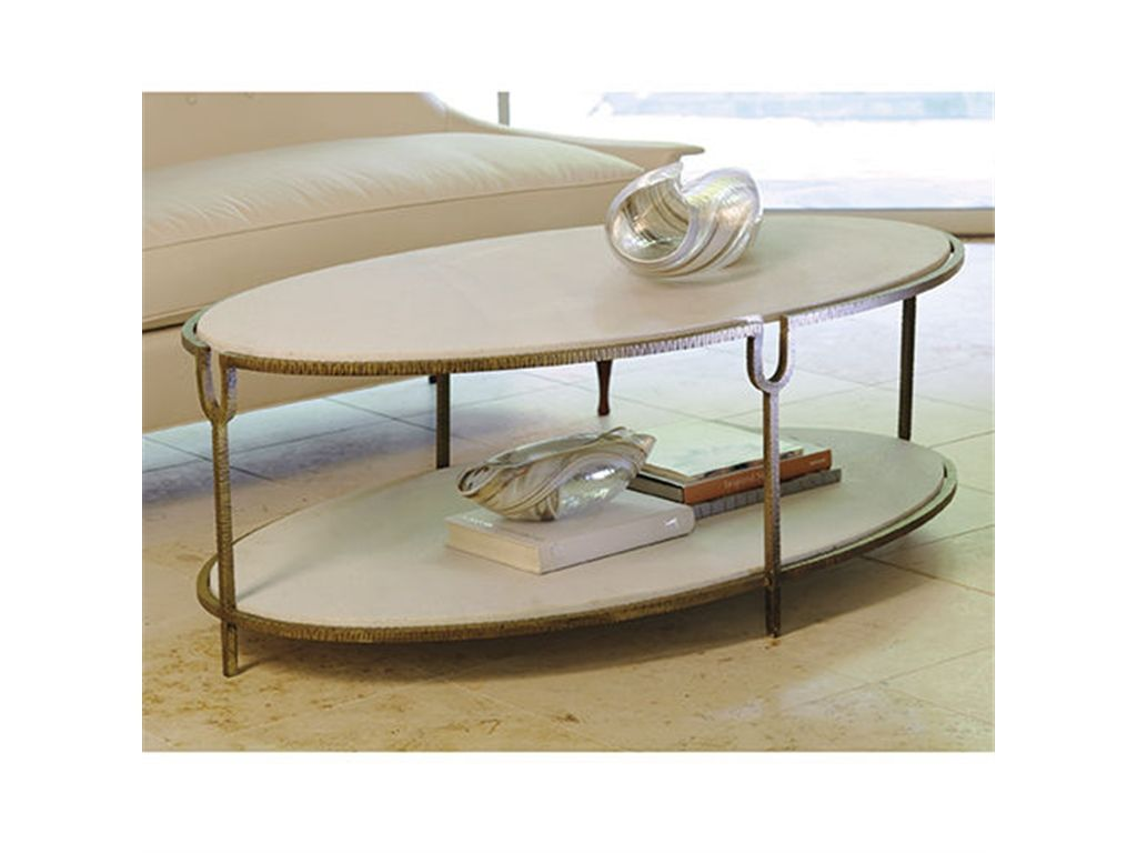 The Global Views 9 91786 Living Room Iron And Stone Oval Coffee Table Google Search