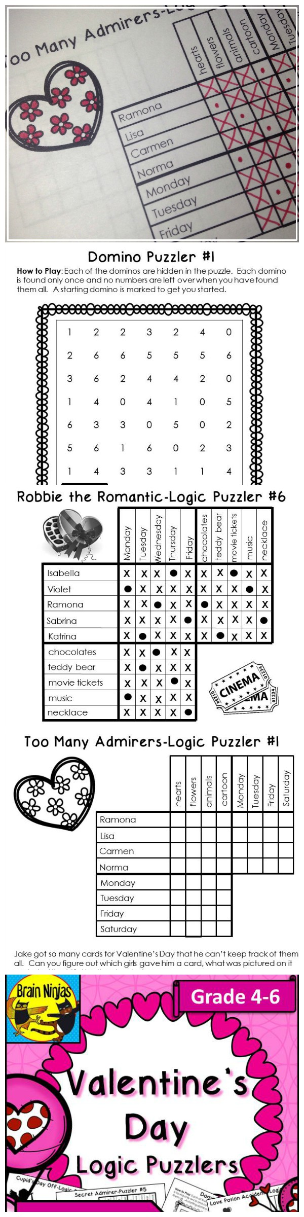 Treat your students to these fun logic puzzles that teach reading comprehension and logical deductive reasoning. (scheduled via http://www.tailwindapp.com?utm_source=pinterest&utm_medium=twpin&utm_content=post29194934&utm_campaign=scheduler_attribution)