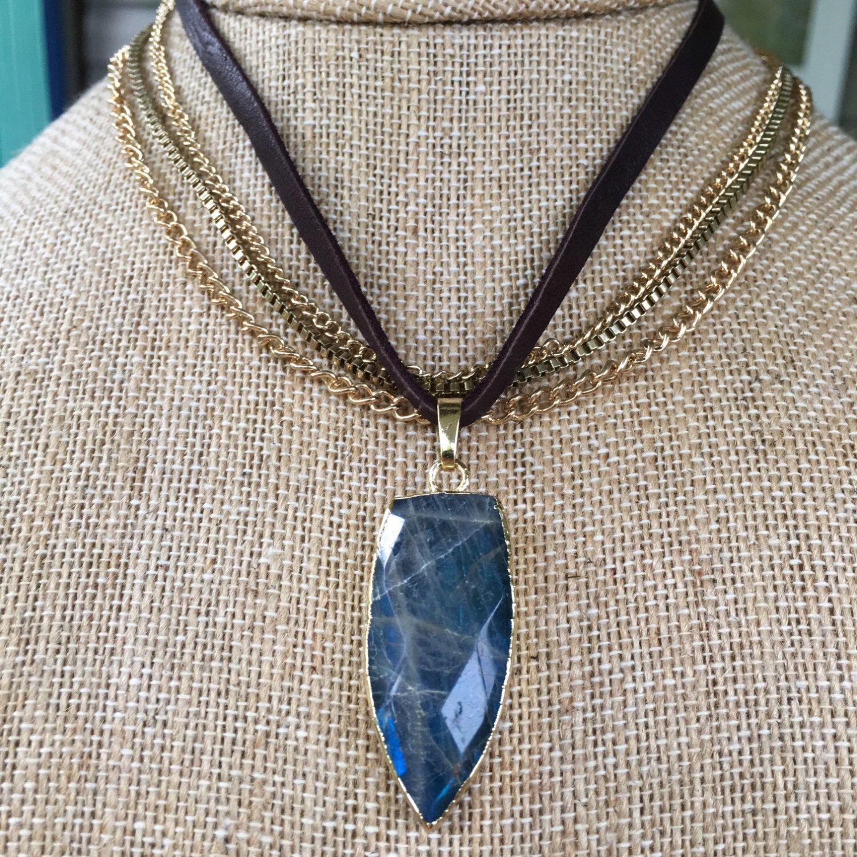 www.vashtijewelry.com #choker #jewelry #arrowhead