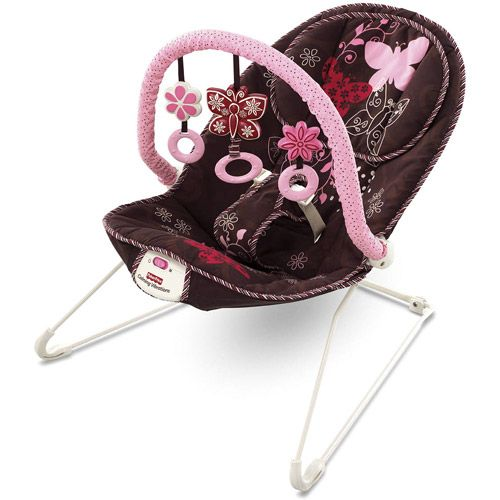 533f2984ec3c Fisher-Price Mocha Butterfly Washable Baby Bouncer - Walmart.com ...