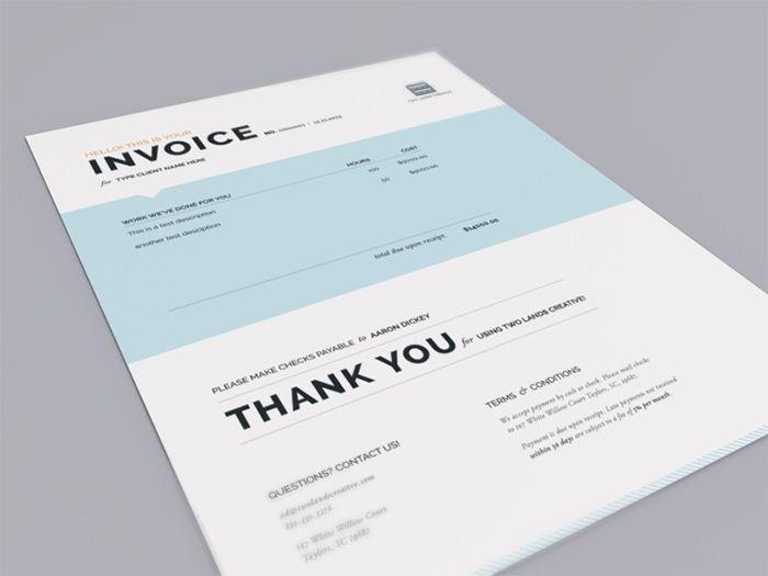 50 creative invoice designs for your inspiration | invoice ideas, Invoice templates