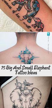 Photo of 75 grandes et petites idées de tatouage d'éléphant – Artisanat plus brillant #Vintagesunflowertatto …