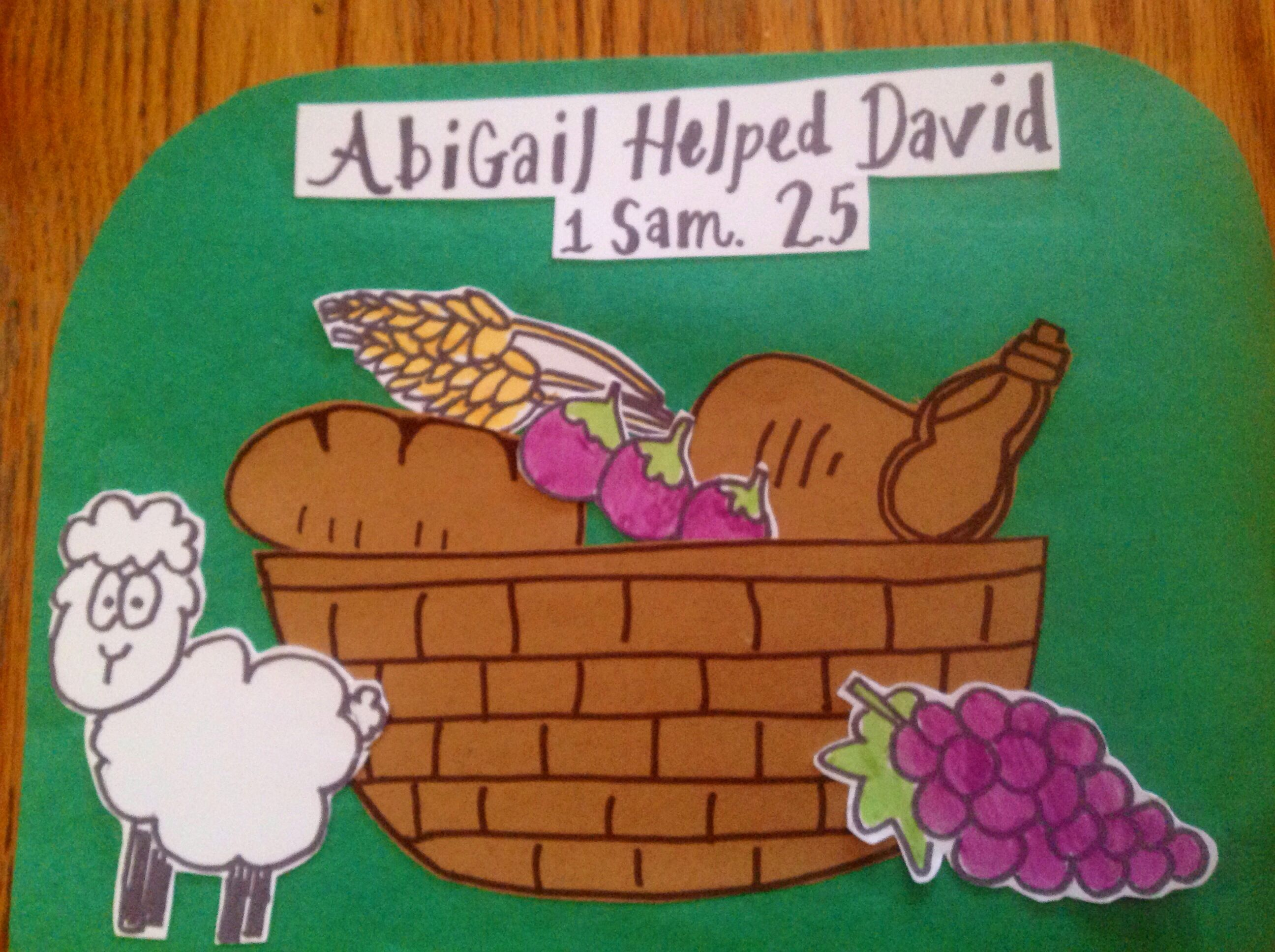 Abigail Helped David Bible Craft By Let