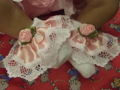 "Dream 0 3 Months Baby Pink Ribbon Roses Romany Frilly 20 24"" Reborn Dolls | eBay"