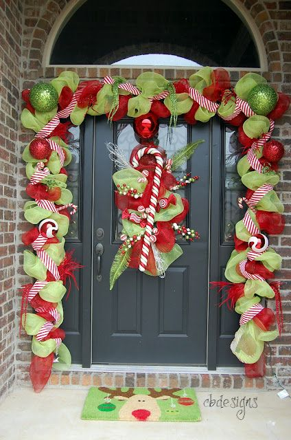 Christmas Candy Door Decorations Holiday - Door Decor Pinterest