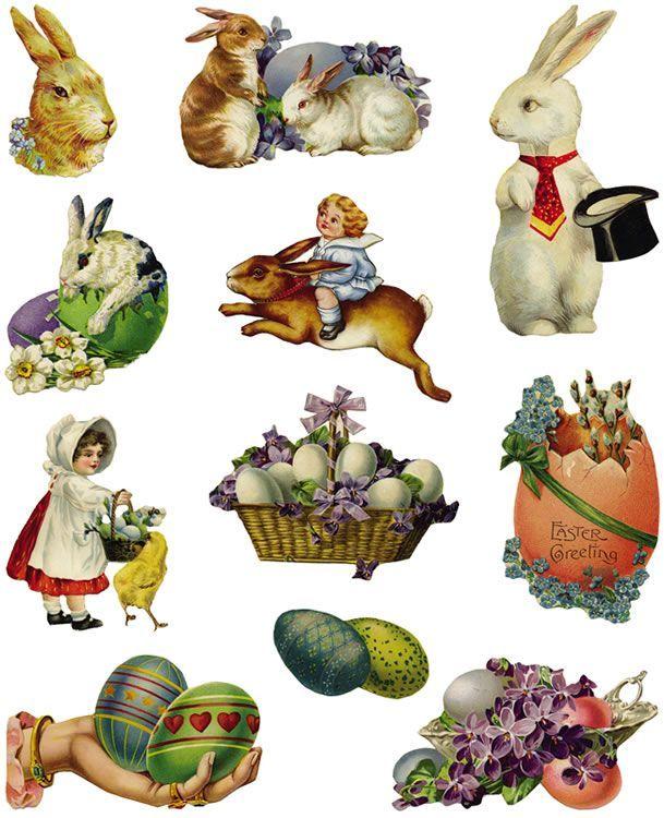 vintage clip art Easter - Cerca con Google | Пасхальные ... Easter Clip Art Free Retro