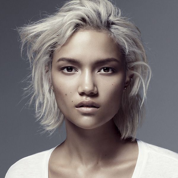 olive skin platinum blonde hair - Google Search | grey ...