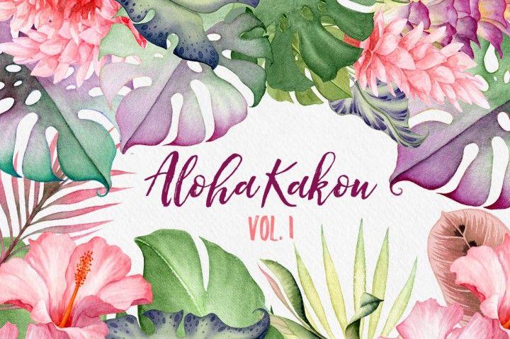 Aloha Kakou Vol 1 Hawaii Flowers By Watercolor Nomads