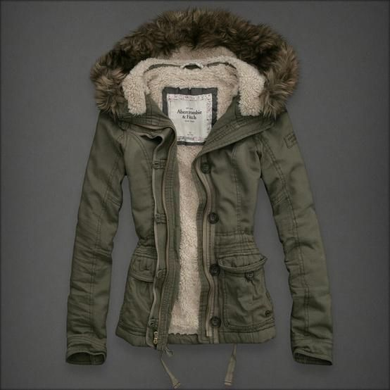 0d195cd5969e Abercrombie and Fitch Green jacket' | Winter! | Winter jackets women ...