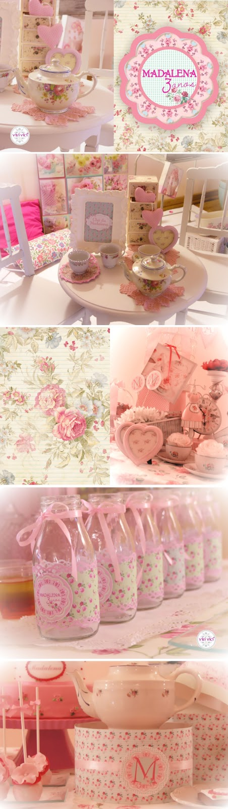 Our Lovely Pink World: O Chá da Madalena!!!  Girl Party Decoration
