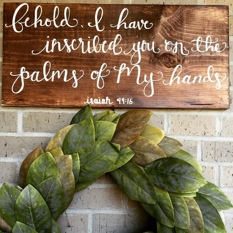 Behold I Have Inscribed You On The Palms Of My Hands