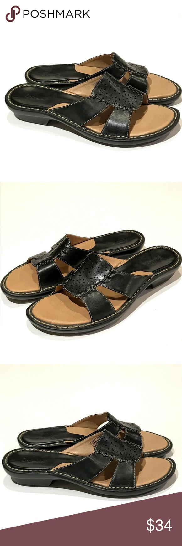 93c7551c6ec Bjorndal Black Sandals Maggie Slip On Size 7.5 M Women s Bjorndal black  Maggie slip on sandals. Size  7.5 M Style    220077 Leather Upper Approx  heel ...