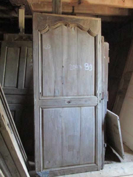 Portes de placard en sapin anciennes, Porte ancienne Rambuteau - rail porte de placard