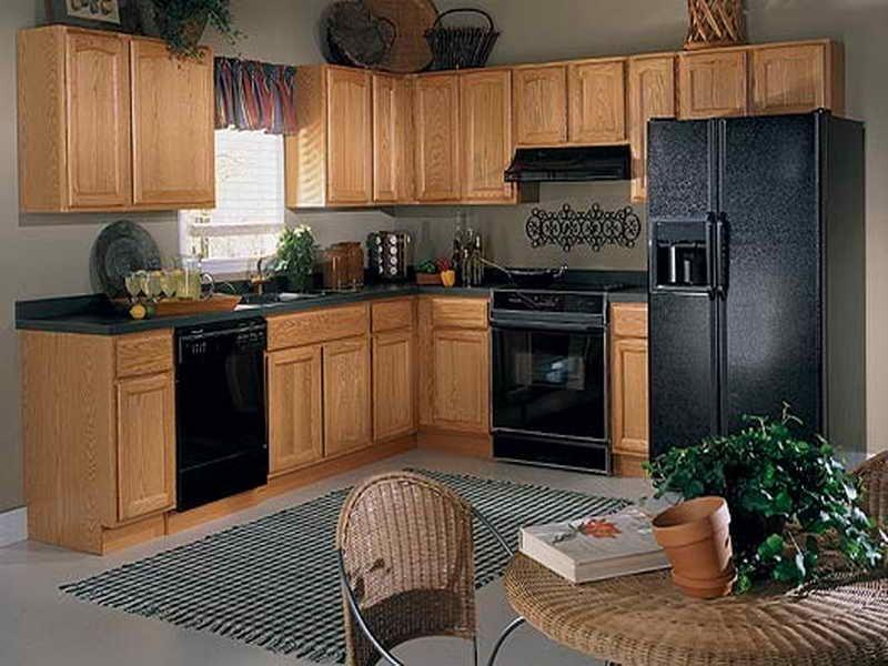 Kitchen Cool Kitchen Paint Colors With Oak Cabinets Kitchen Paint Colors With Oak Cabinets Kitchen Pai Black Appliances Kitchen Kitchen Interior Oak Cabinets
