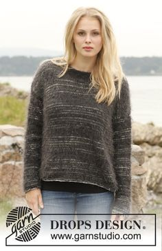 """Very stylish and easy to #knit! Jumper with stripes in """"Fabel"""" and """"Symphony"""""""