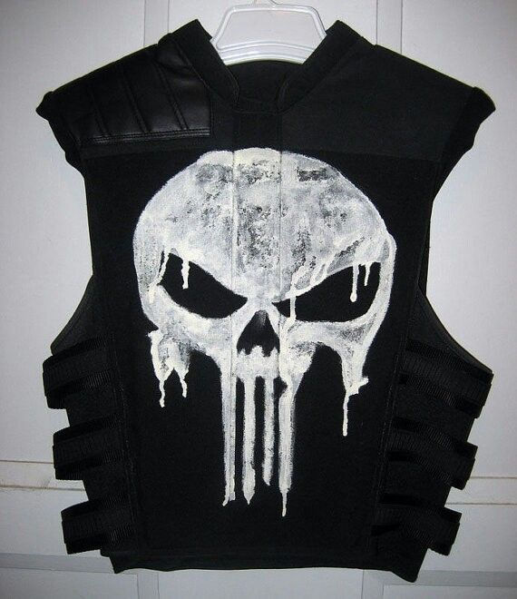 find this pin and more on cosplayhalloween costumes the punisher thomas jane faux bulletproof vest - Halloween Bullet Proof Vest