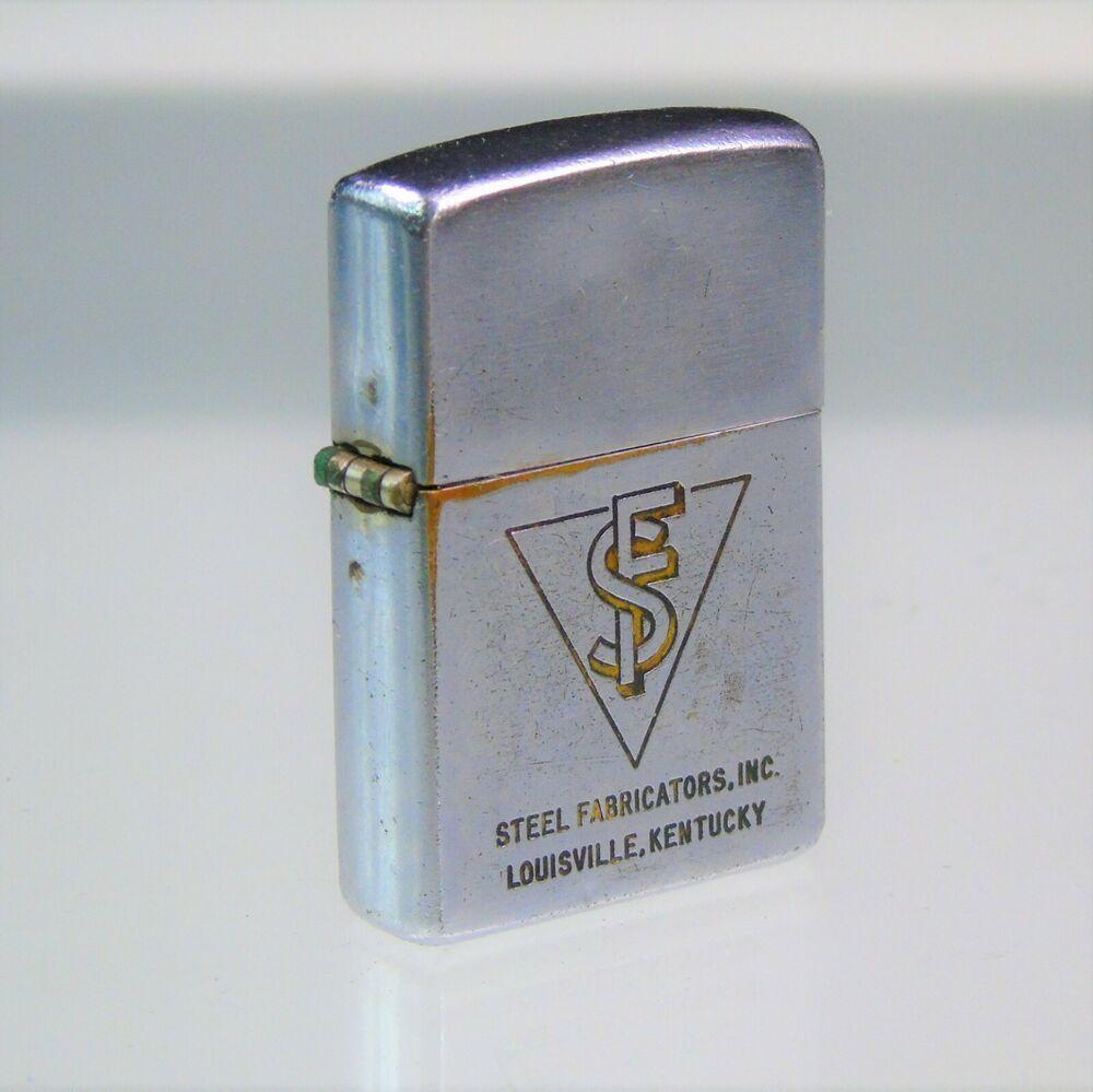 1950s Vintage Zippo Lighter Pat Pending 257191 Sf Advertising Steel Fabricators Zippo Custom Lighters Advertising Collectibles Zippo Slim