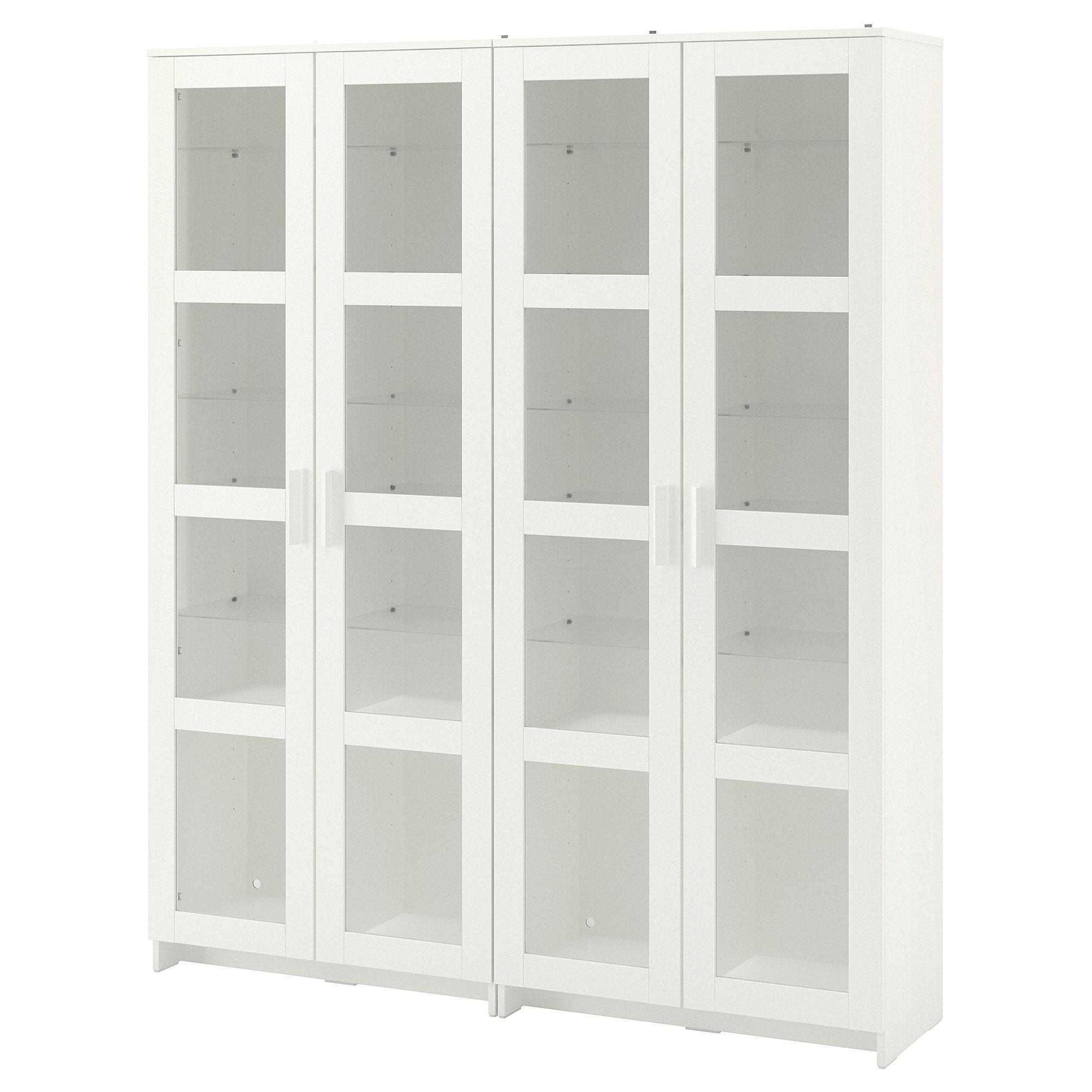 Ikea Brimnes White Storage Combination W Glass Doors In 2020