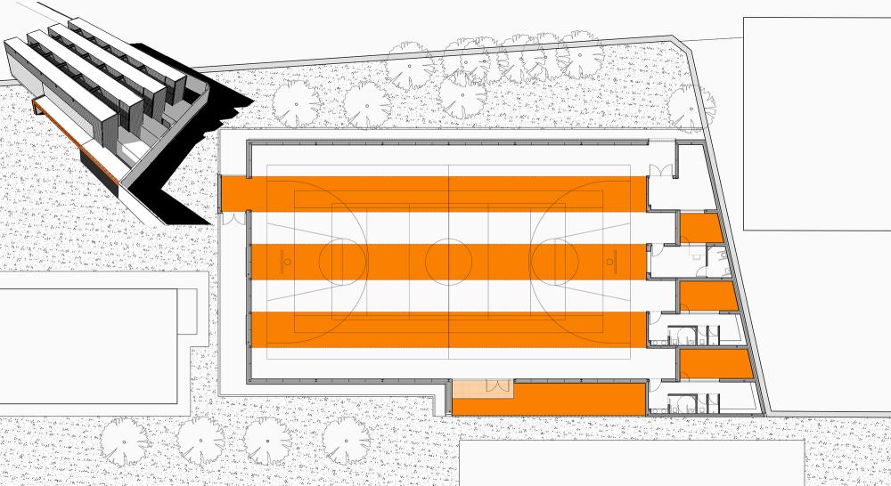 Pabellón+Deportivo+en+el+C.P.+Pablo+Iglesias+/+Planta+33+Arquitectura